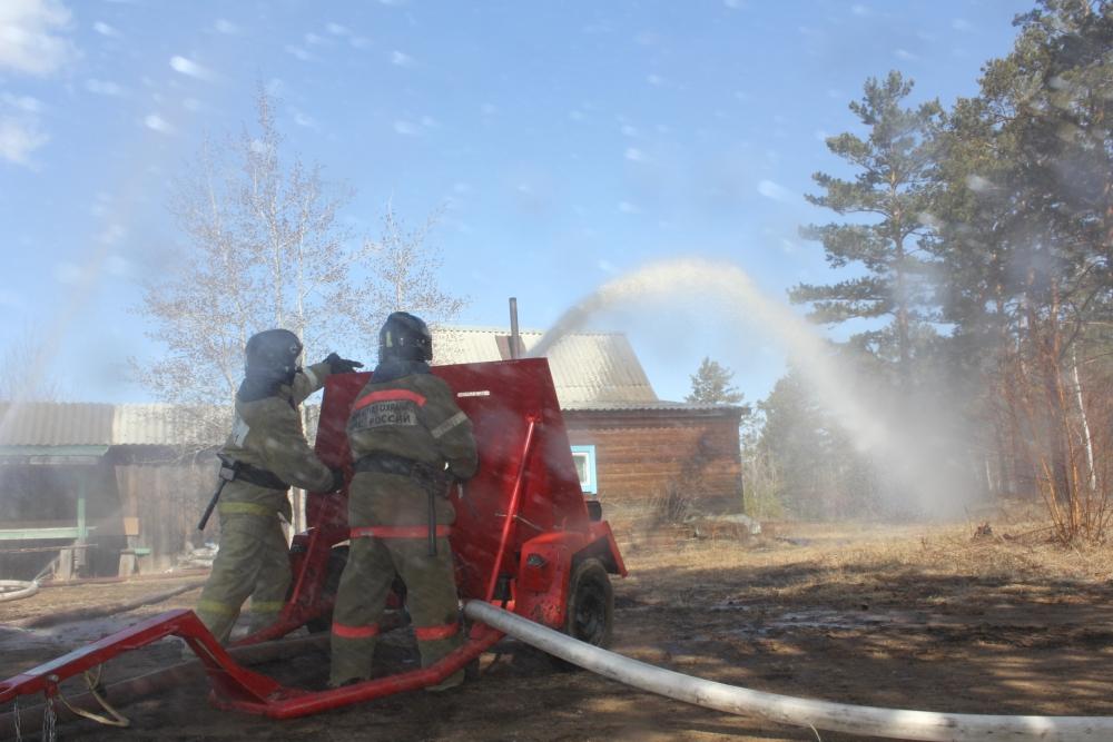 Всероссийские учения. Ликвидация лесного пожара
