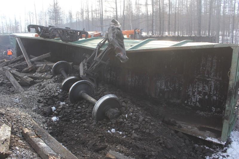 Сход вагонов в Могочинском районе 16.02