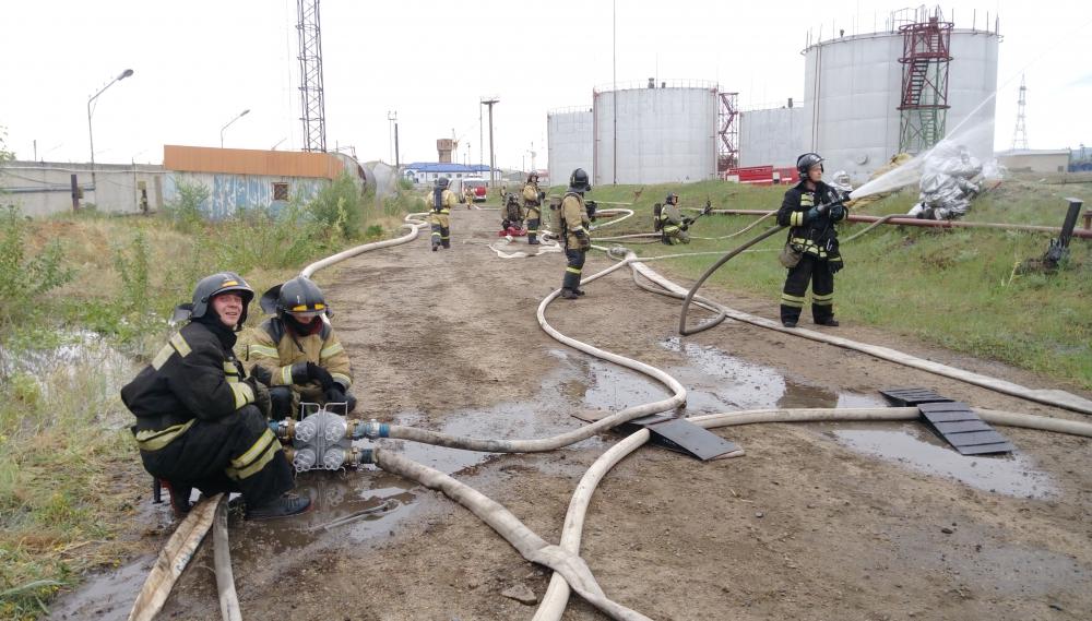 Учения на нефтебазе Нефтемаркет