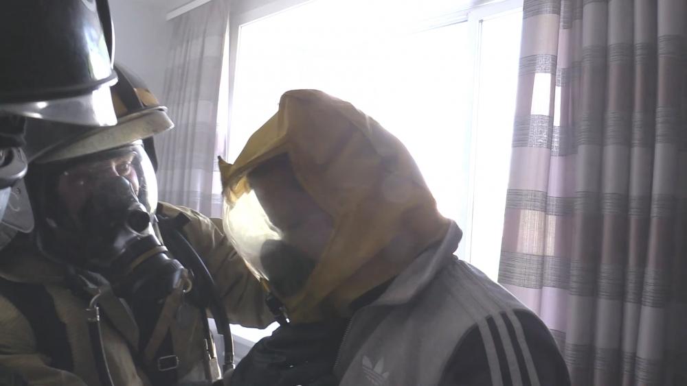 Пожарно-тактические учения на железнодорожной больнице 24.08.2016