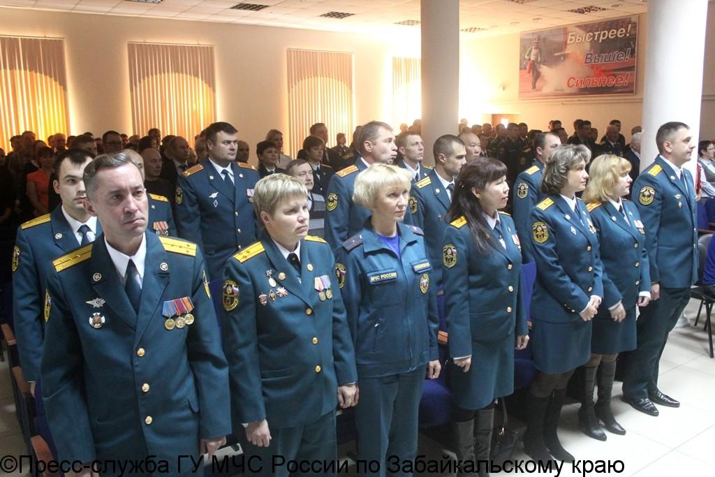 Торжественное мероприятие в честь Дня Гражданской обороны прошло в читинской Пожарной части №8