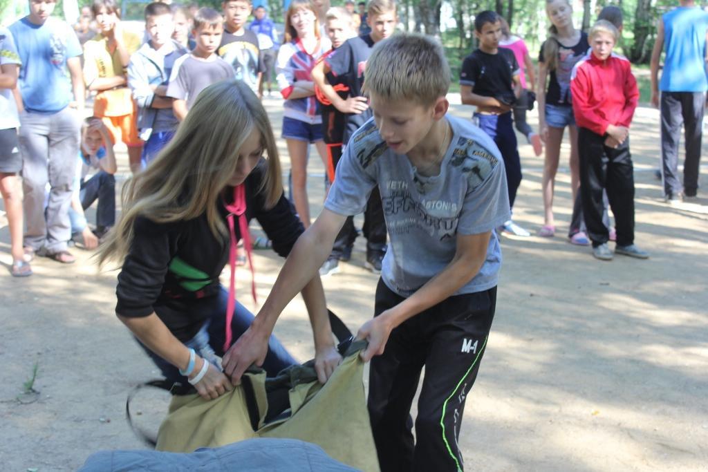 Учебная эвакуация в детском лагере Чайка