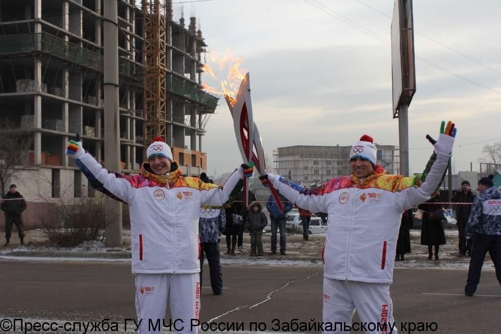 МЧС на страже Эстафеты Олимпийского огня в Чите