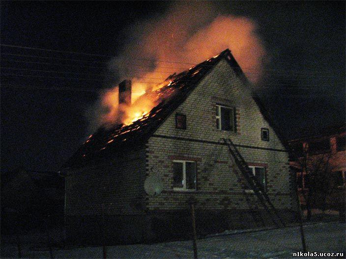 Пожар жилого дома в поселке Оловянная Оловяннинского района