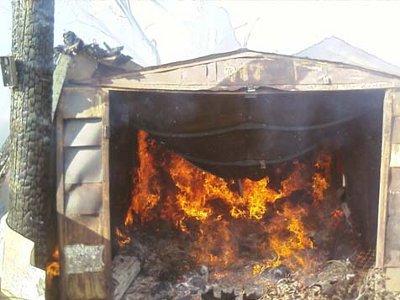 Полезная информация: пожар в гараже