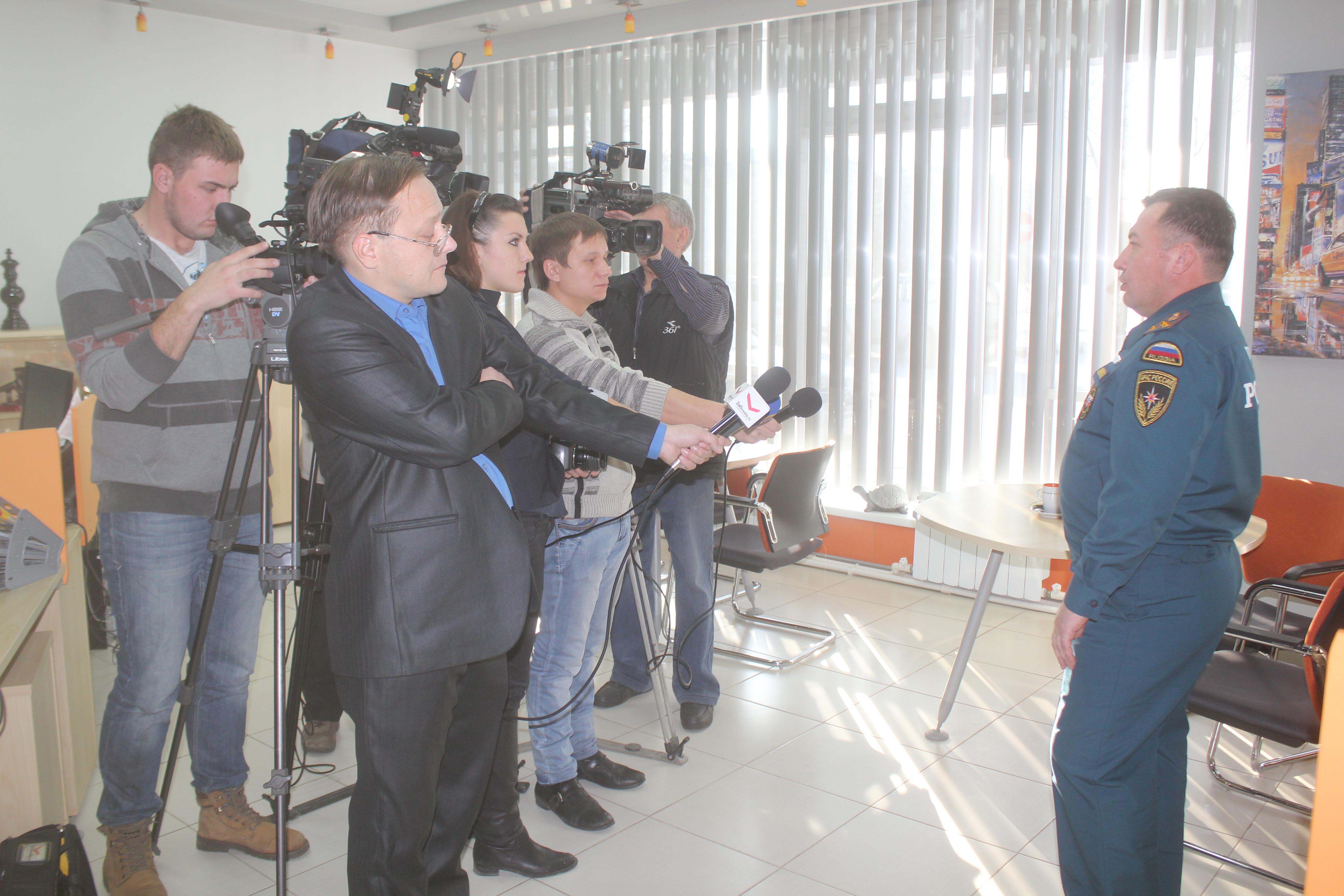 Выступление начальника Главного управления МЧС России по Забайкальскому краю перед представителями СМИ