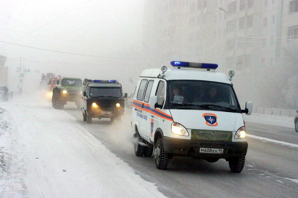 В Якутске состоялся автопробег техники МЧС