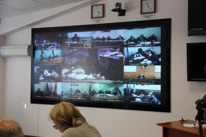 Заседание КЧС правительства Хабаровского края по вопросам готовности муниципальных образований к весенне-летнему пожароопасному периоду и проведения протовопаводковых мероприятий в 2014 году