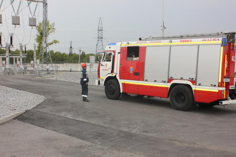 Хабаровские энергетики и пожарные отработали совместные действия при ликвидации загорания на подстанции