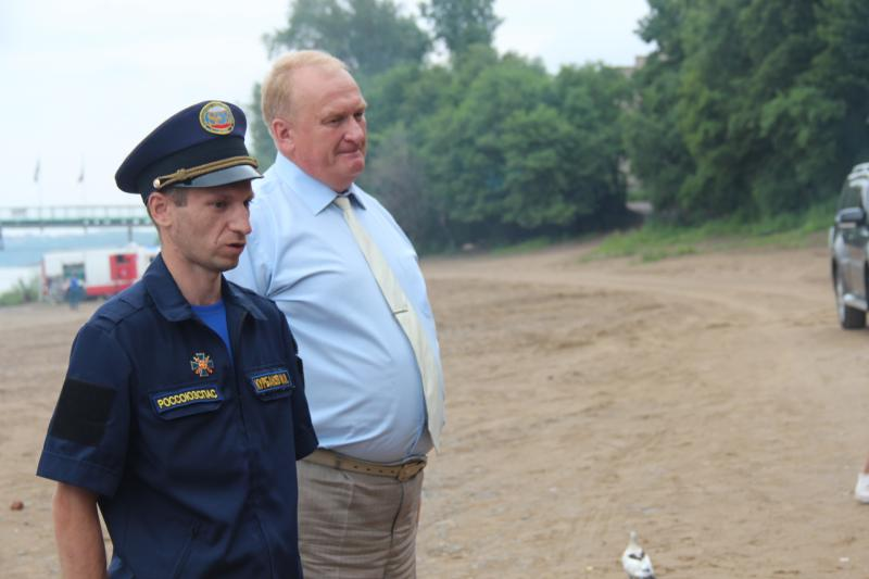 Открытие общественного спасательного поста на реке Амур в г. Хабаровск.
