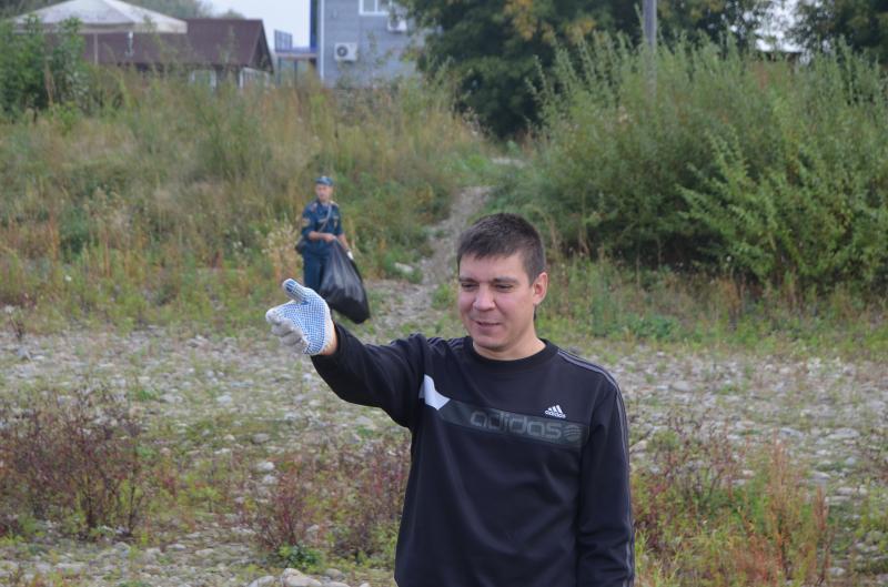 """Акция """"Чистый берег"""" в Комсомольске-на-Амуре"""