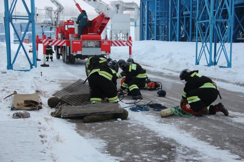 """Учения на пивоваренном заводе """"Балтика"""""""