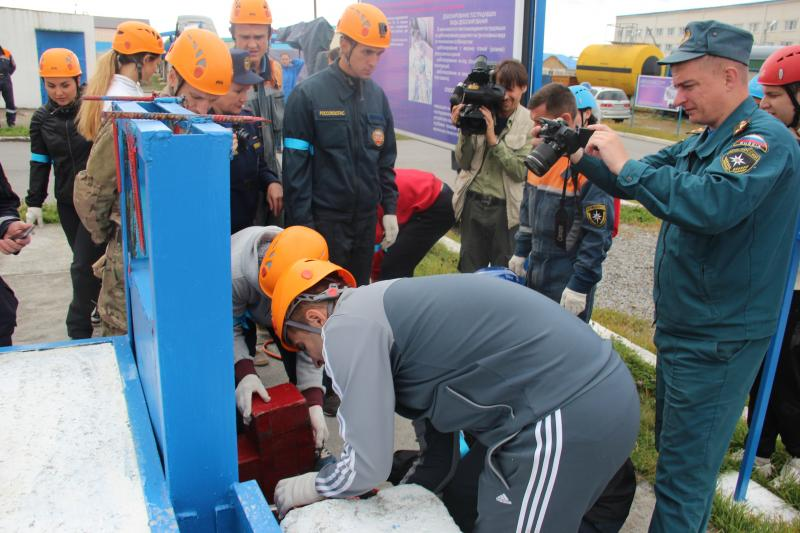 Соревнования по пожарно-спасательному спорту среди журналистов и сотрудников пресс-служб