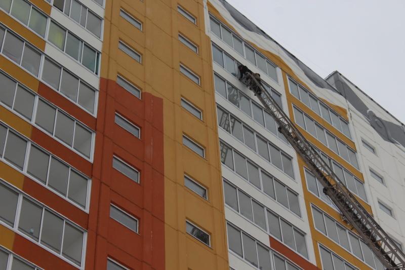 Учения в 17-этажном жилом доме на ул. Ковалева (18 ноября 2019 года)