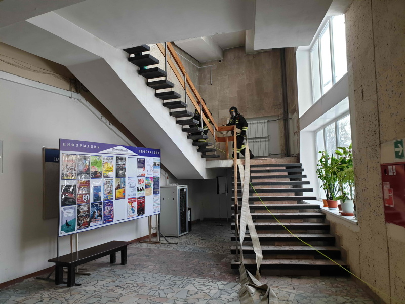 Пожарно-тактическое учение в Центре культуры Томского государственного университета (28 января 2020 года)