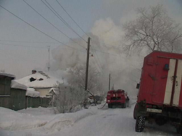 В д. Анган Куйбышевского района на ул. Озерная произошло возгорание в здании сельского клуба