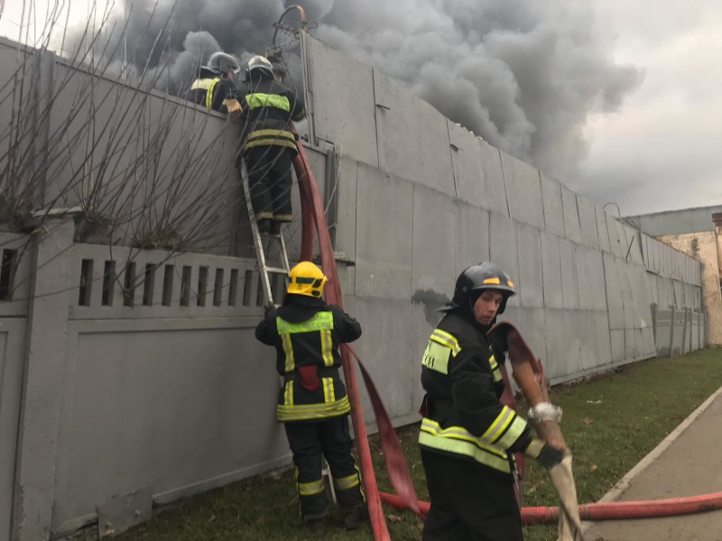 Уточнённая информация о пожаре по адресу: Варшавское, д. 129, к. 2