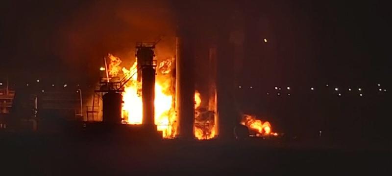 Пожар на территории Нефтеперерабатывающего завода ООО «ЛУКОЙЛ-Ухтанефетпереработка»