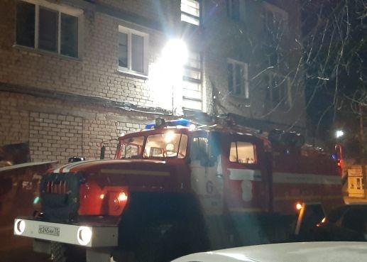 Пожарно-спасательные подразделения приняли участие в ликвидации пожара  в г.Димитровграде