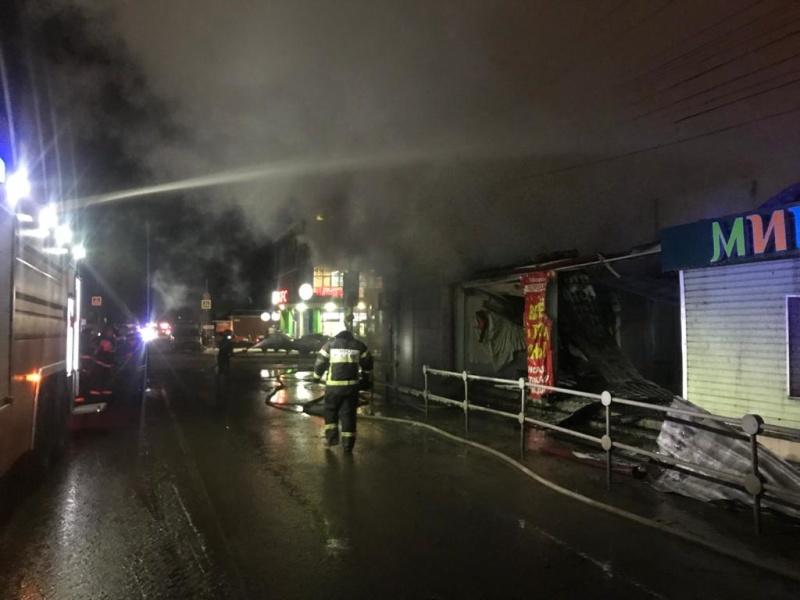 Ликвидация открытого горения в строении в городском округе Раменское