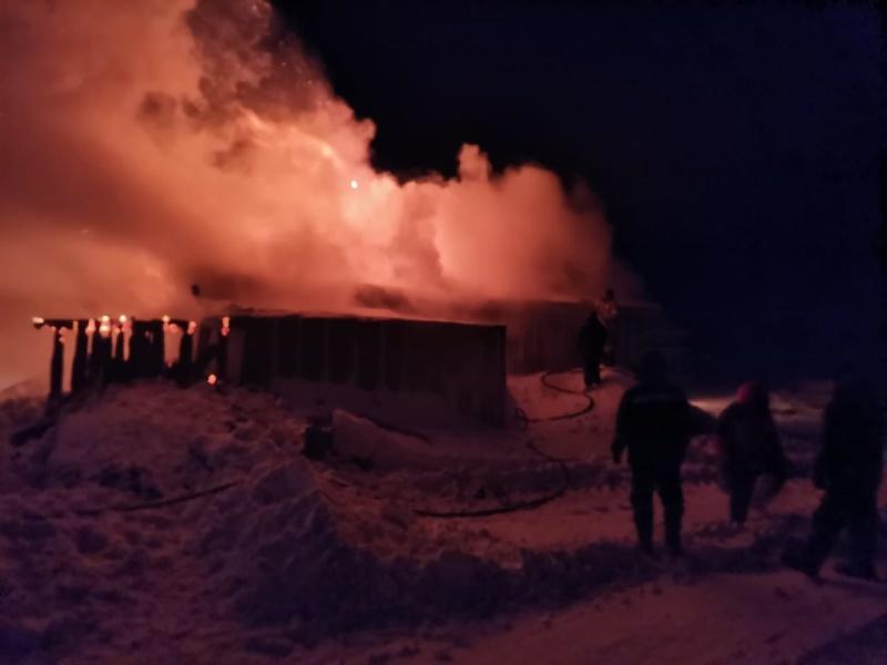 ДПК с.п. Нешкан ликвидировала пожар в жилом доме