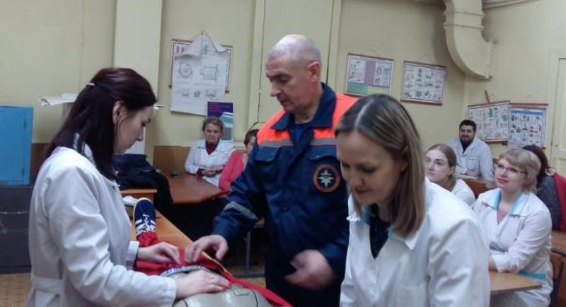 Обучающее занятие по правилам оказания первой помощи