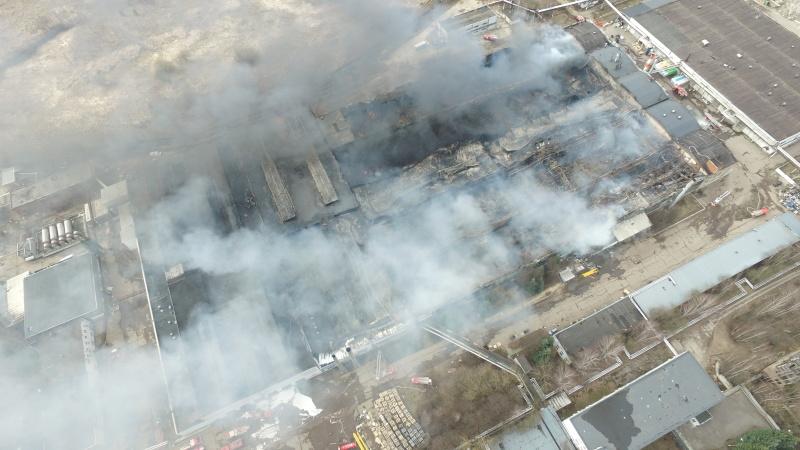 Ликвидация открытого горения в строение в городском округе Дмитров