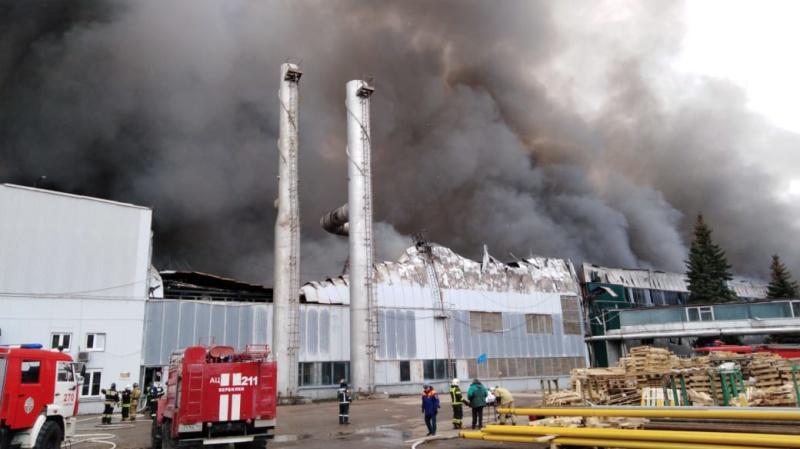Ликвидация пожара в строении в городском округе Дмитров