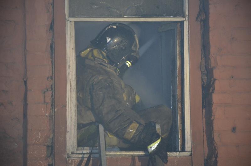 Загорание строящегося жилого дома в г.Красноярске