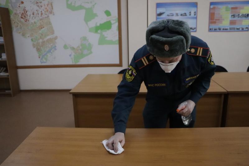В Главном управлении МЧС России по Владимирской области предпринимаются все меры по недопущению заболевания личного состава