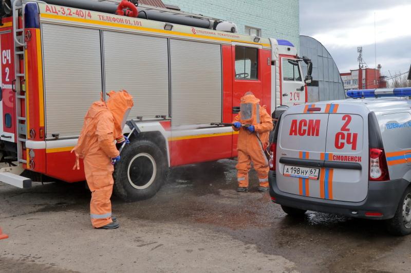В МЧС России организована работа по недопущению заболевания личного состава инфекционными заболеваниями