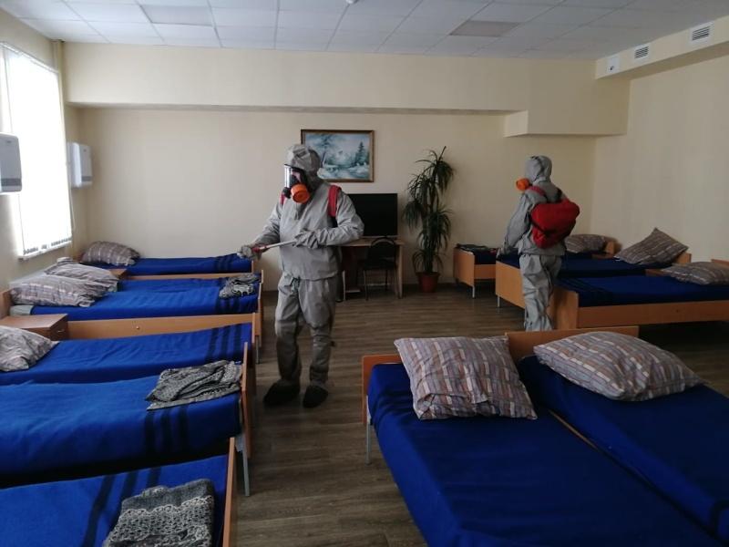 Дезинфекция помещений в подразделениях Главного управления МЧС Росии по Ивановской области
