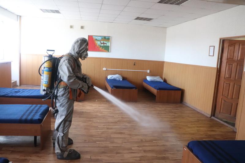 В Главном управлении МЧС России по Рязанской области продолжаются профилактические и дезинфекционные мероприятия