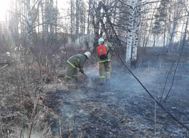 В настоящее время пожарные тушат траву в г. Волгореченск