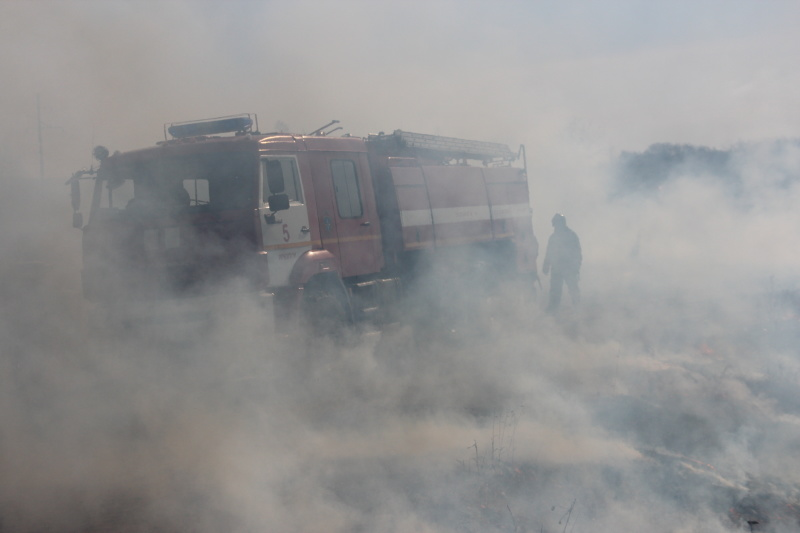 В Иркутской области увеличилось число выездов пожарных подразделений на горение сухой растительности и мусора