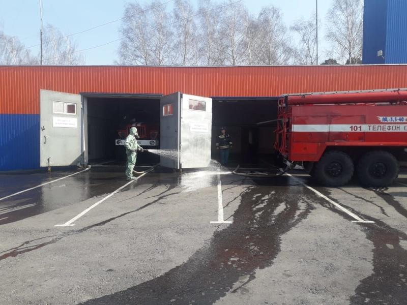 Во всех подразделениях Главного управления МЧС России по Рязанской области продолжаются профилактические и дезинфекционные мероприятия