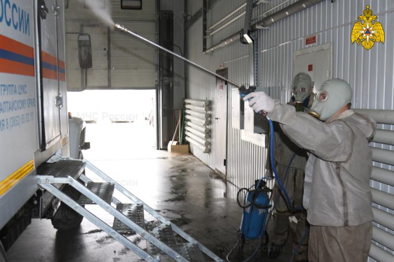 В Главном управлении МЧС России по Алтайскому краю и структурных подразделениях проводятся профилактические мероприятия по недопущению распространения вирусных инфекций
