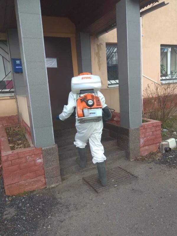 Администрация Всеволожского района провела дезинфекцию в местном отделе надзорной деятельности и профилактической работы