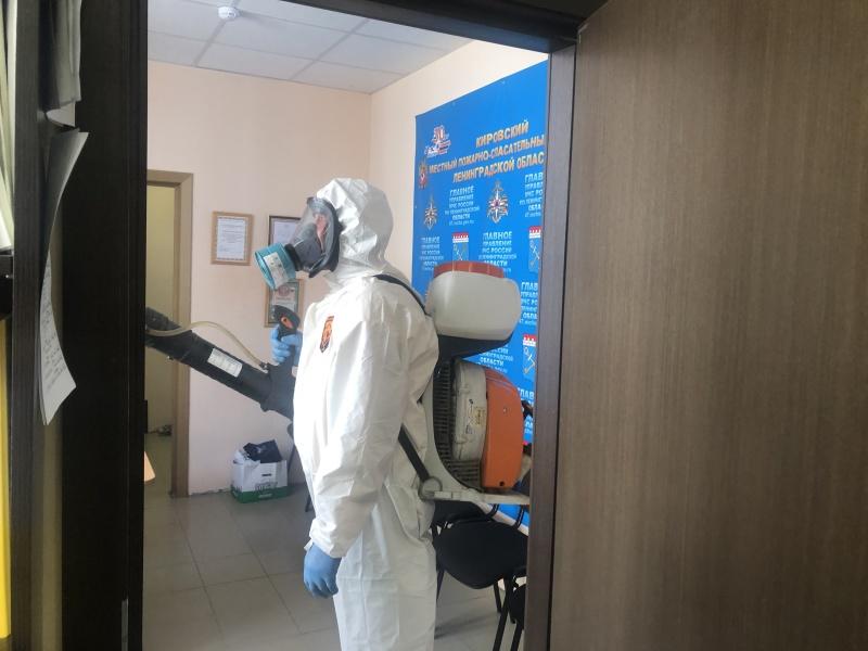 В отделе надзорной деятельности и профилактической работы Кировского района продолжается работа по дезинфекции помещений
