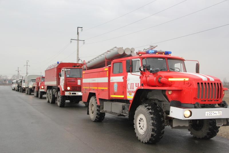 Для защиты населённых пунктов пожарно-спасательные подразделения переведены на усиленный режим работы