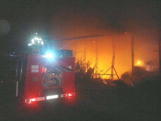 Пожар в  Рамонском районе