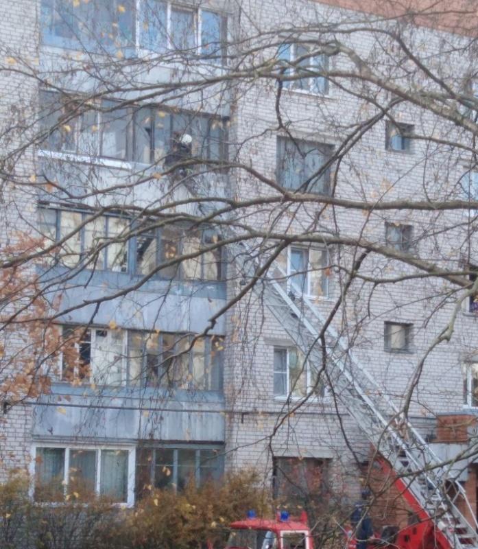 Пожарно-спасательные подразделения Псковской области принимали участие в ликвидации пожара в г. Пскове