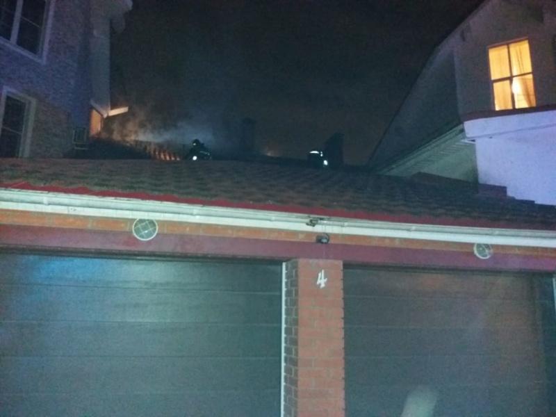 Ликвидация пожара в здании в городском округе Красногорск