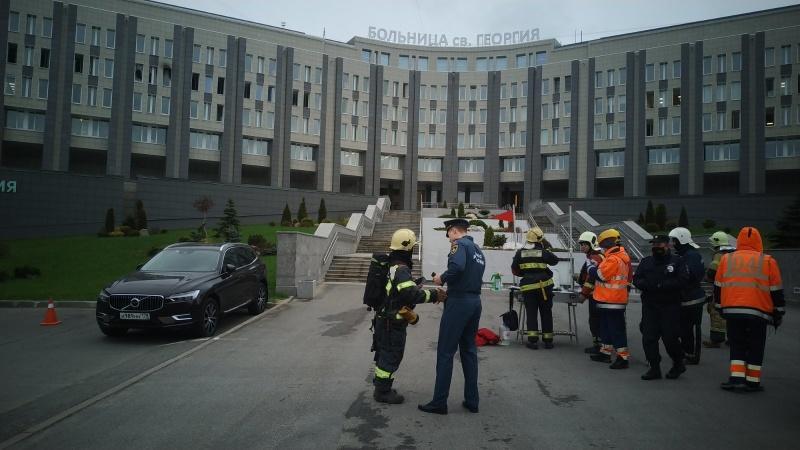 Локализация пожара в Выборгском районе