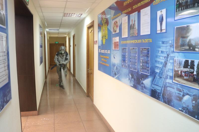 В подразделениях Главного управления МЧС России по Рязанской области продолжаются профилактические и дезинфекционные мероприятия