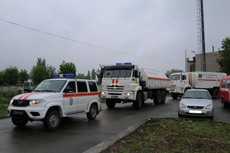 В Карачаево-Черкесию прибыл Донской спасательный центр МЧС Росси