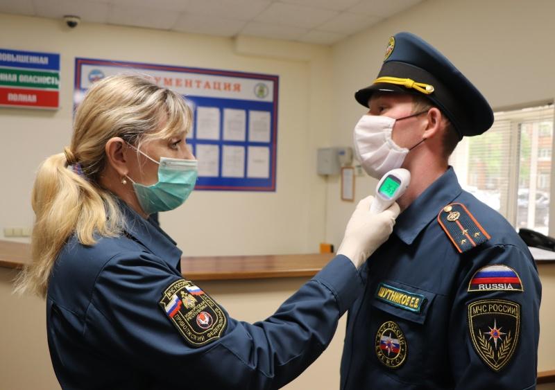 В подразделениях МЧС Удмуртии продолжается проведение санитарно-противоэпидемических мероприятий