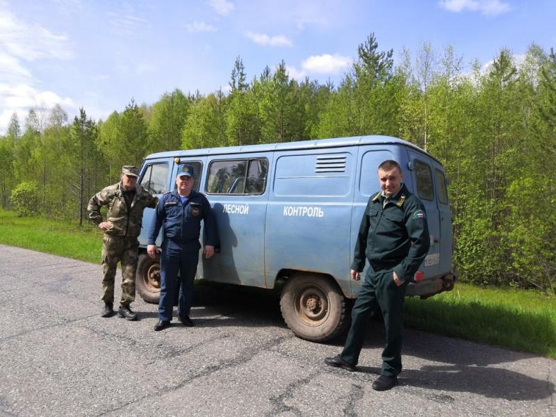 Лесники и спасатели провели совместный рейд
