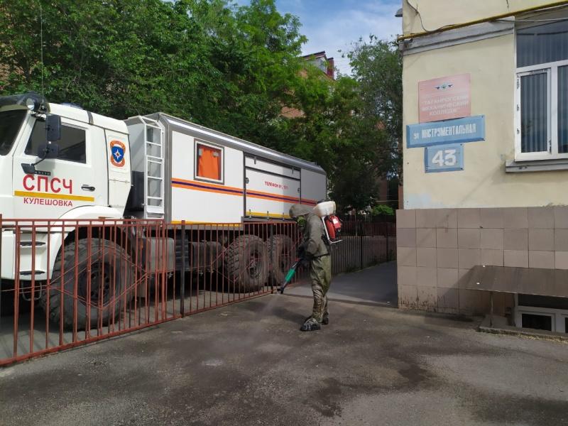 В Таганроге и Аксае провели дезинфекцию учебных заведений