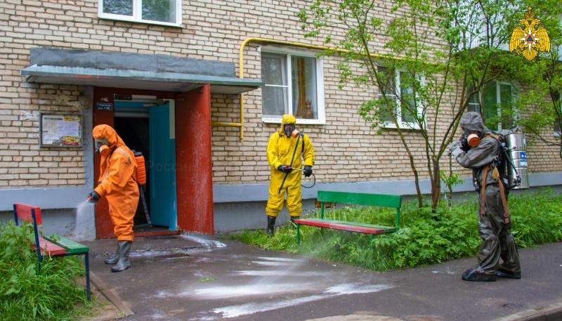 Продолжается санитарная обработка общественных мест